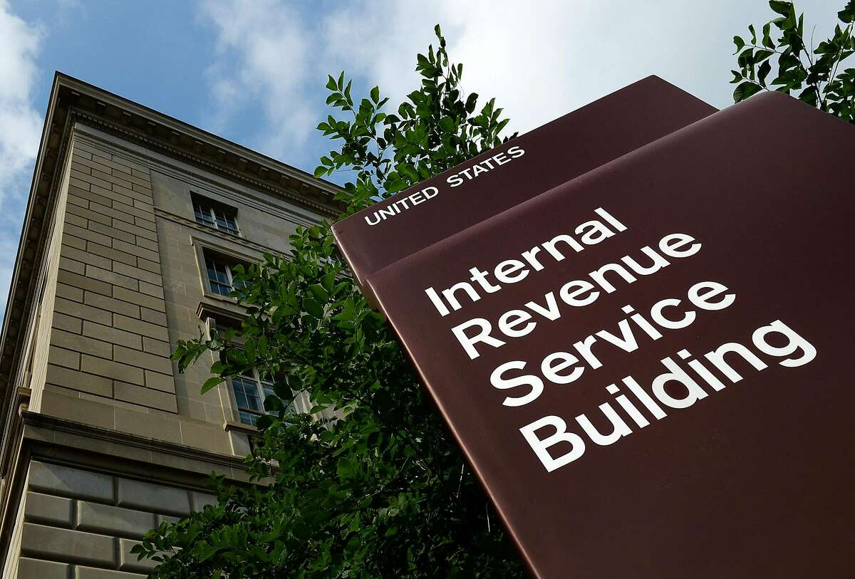 A file photo of the exterior of the Internal Revenue Service in Washington, DC.