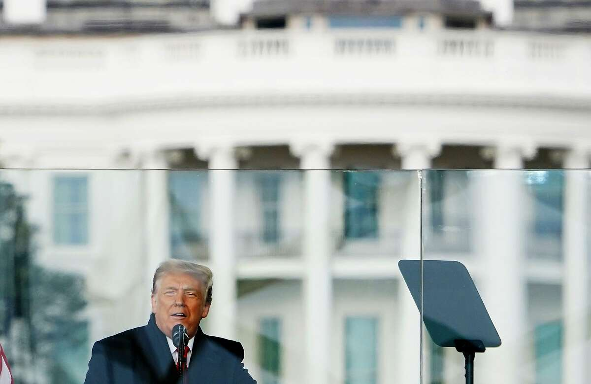 US President Donald Trump speaks to supporters from the Ellipse near the White House on Wednesday.