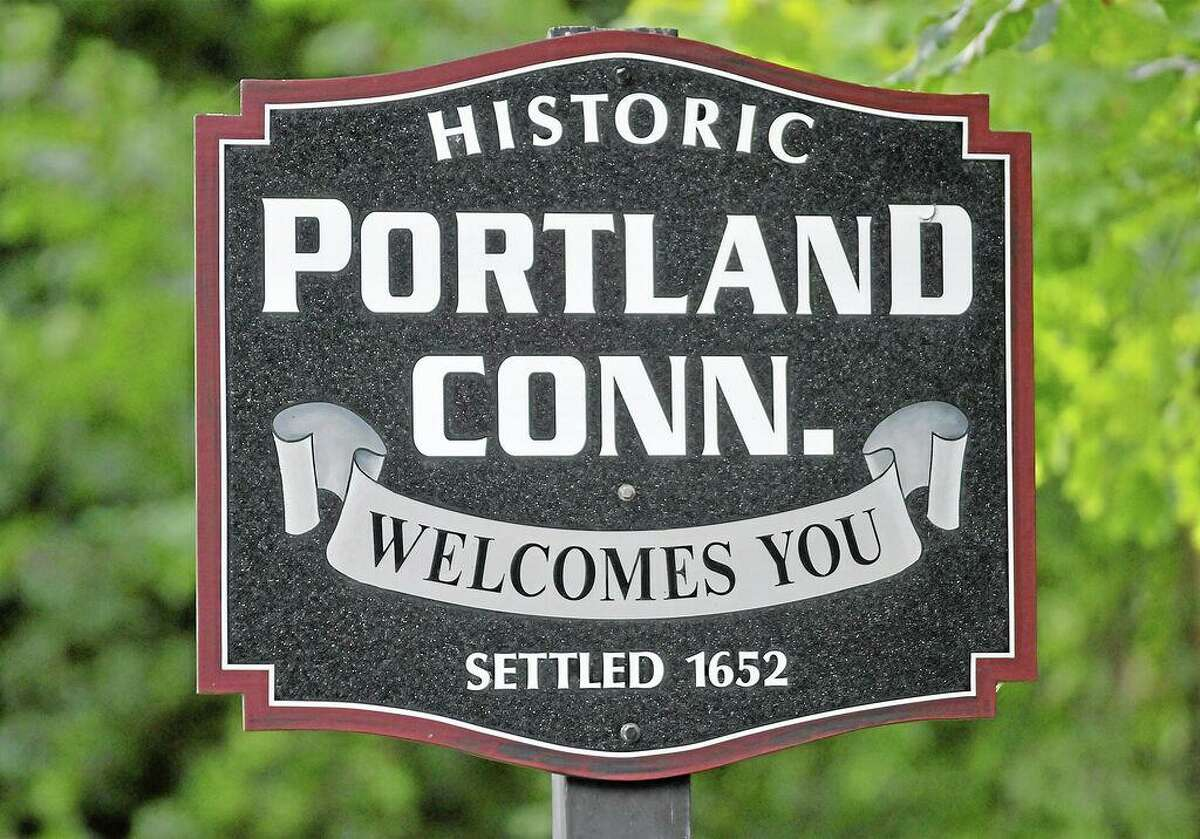 Portland town sign.