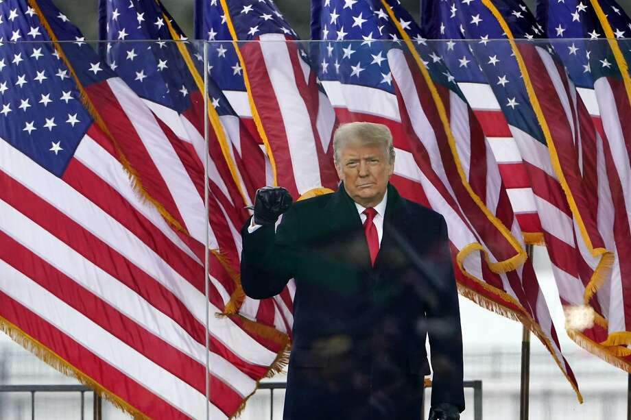President Donald Trump arrives to speak at a rally Wednesday, Jan. 6, 2021, in Washington. Photo: Jacquelyn Martin, Associated Press