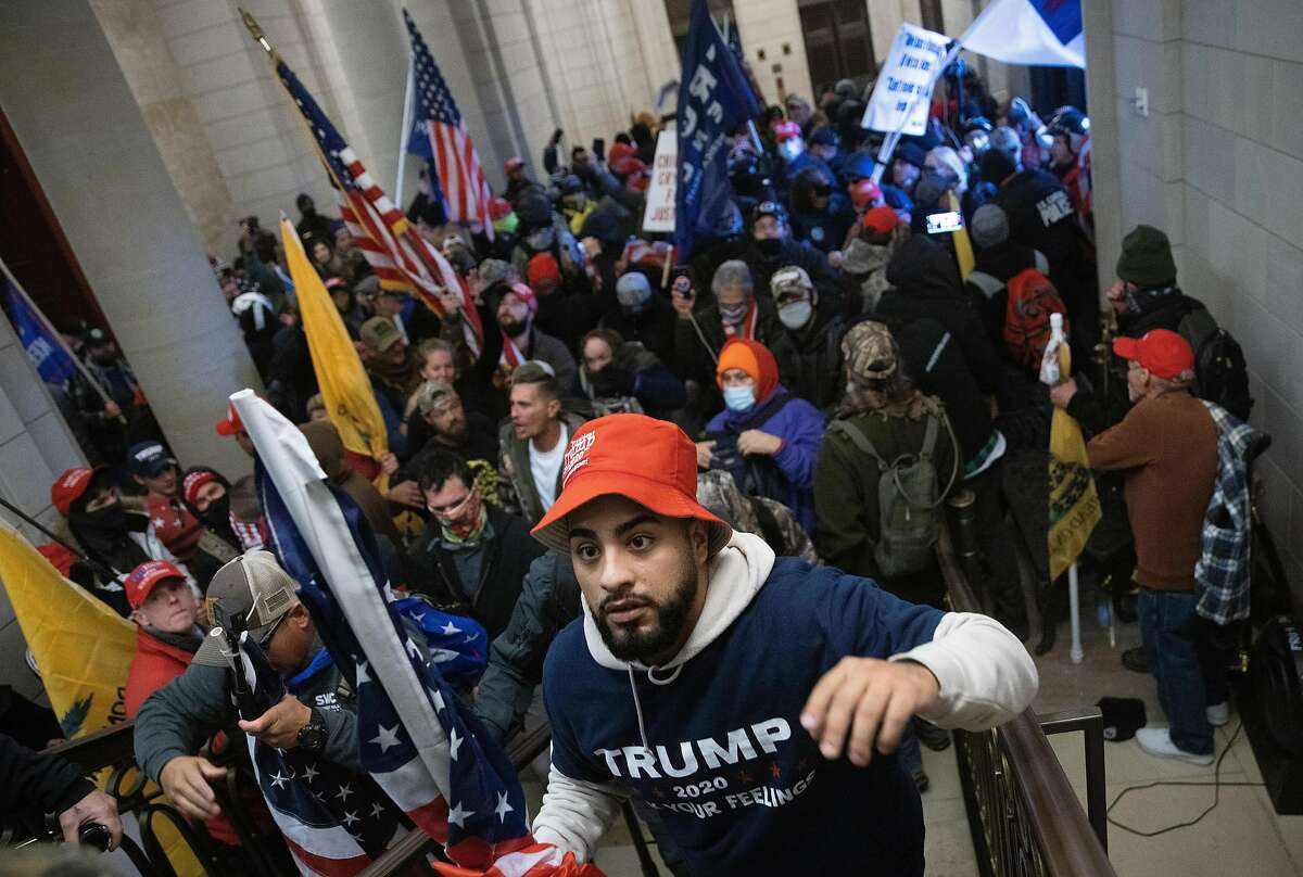 A pro-Trump mob breaks into the U.S. Capitol on Wednesday during a joint session of Congress.
