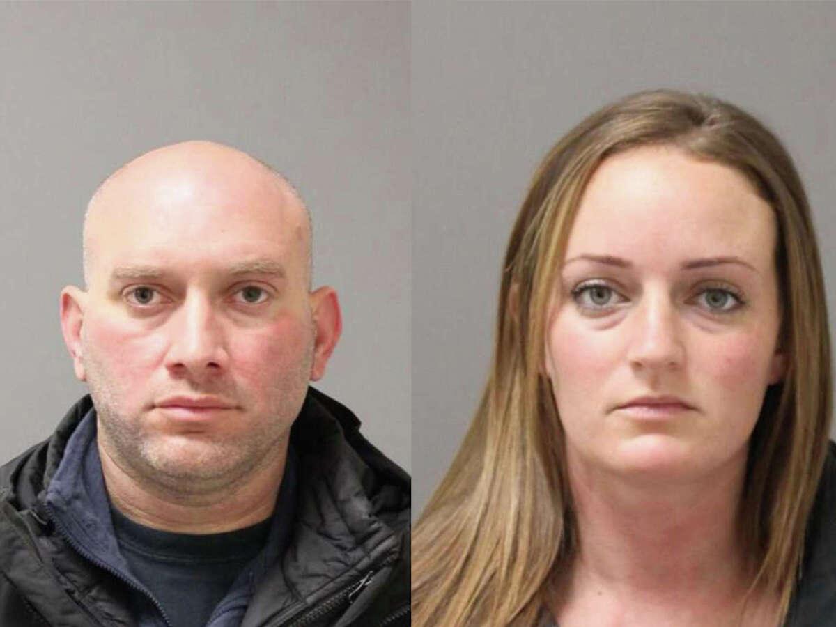 Officers Michael DiMeglio and Sara Laudano