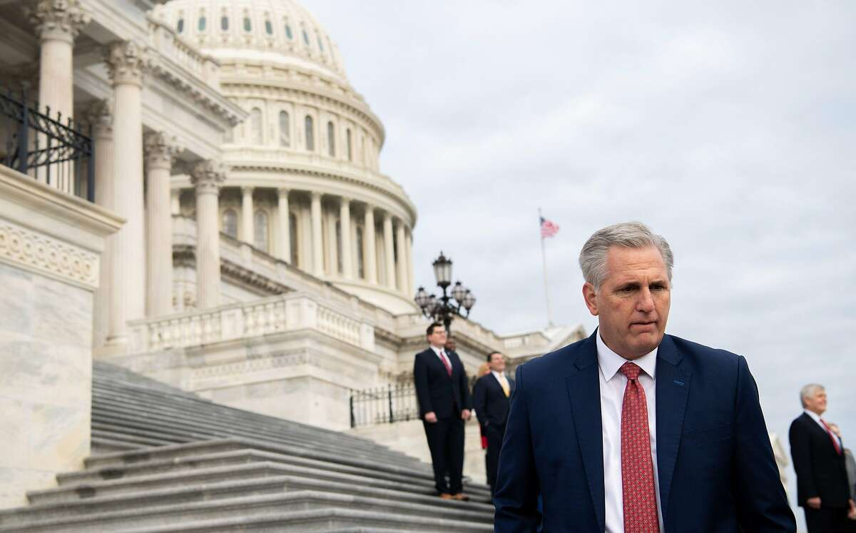 House Republican leader Kevin McCarthy of Bakersfield on the steps of the U.S. Capitol in Washington, D.C., on Jan. 4.