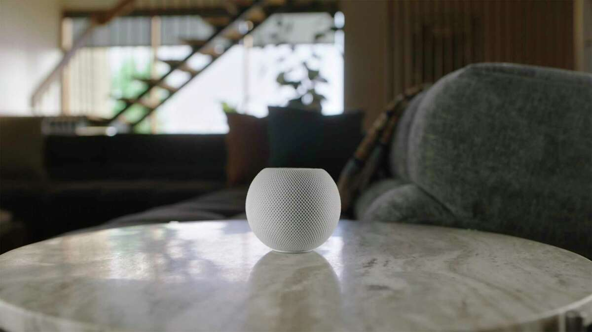 The HomePod Mini, unveiled by Apple on Oct. 13, 2020.