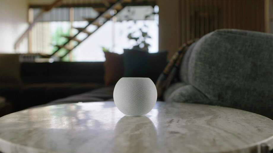 The HomePod Mini, unveiled by Apple on Oct. 13, 2020. Photo: Associated Press / Apple
