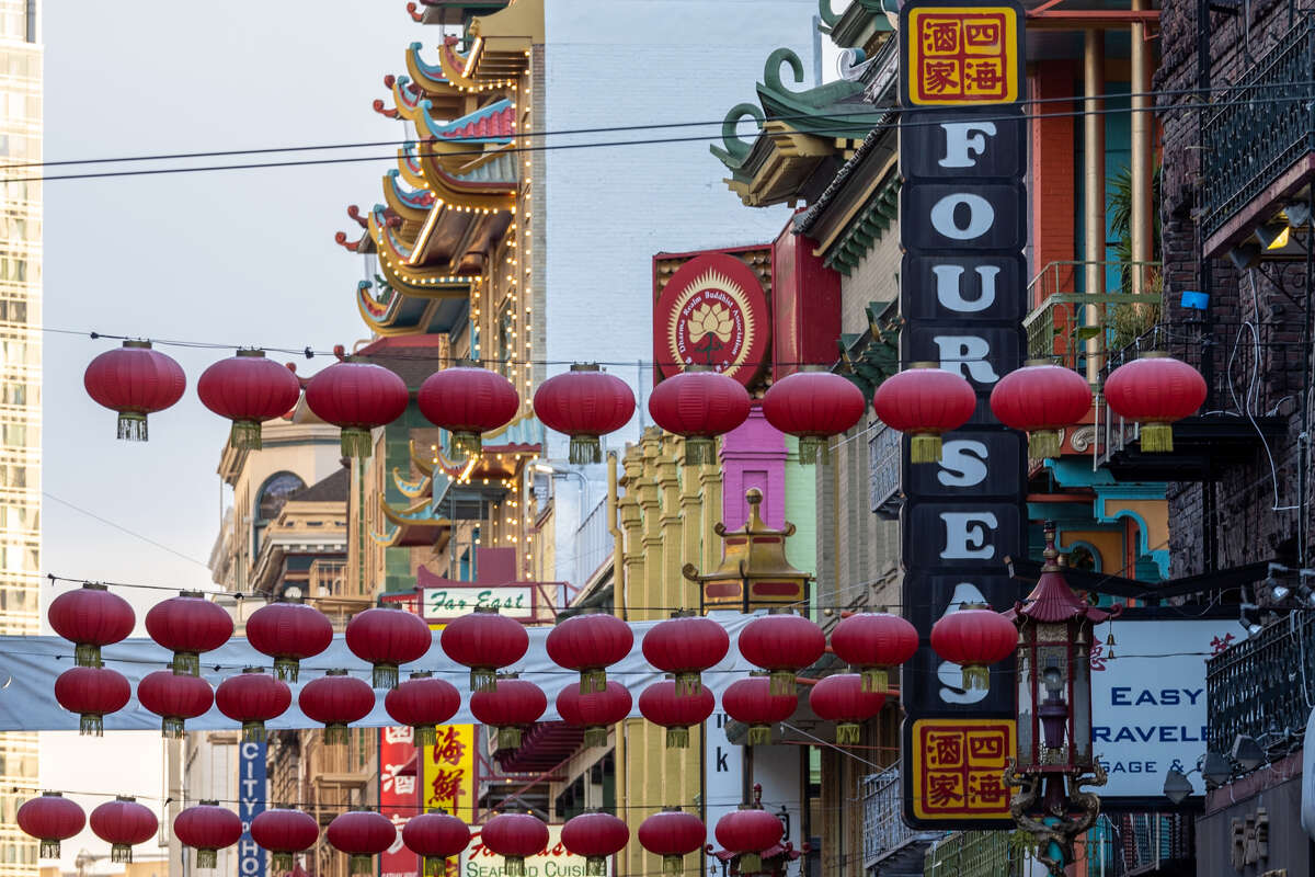 Lanterns along Grant Ave., Chinatown.