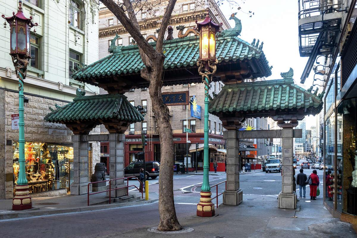Dragon Gate on Bust St., Jan. 5, 2021.