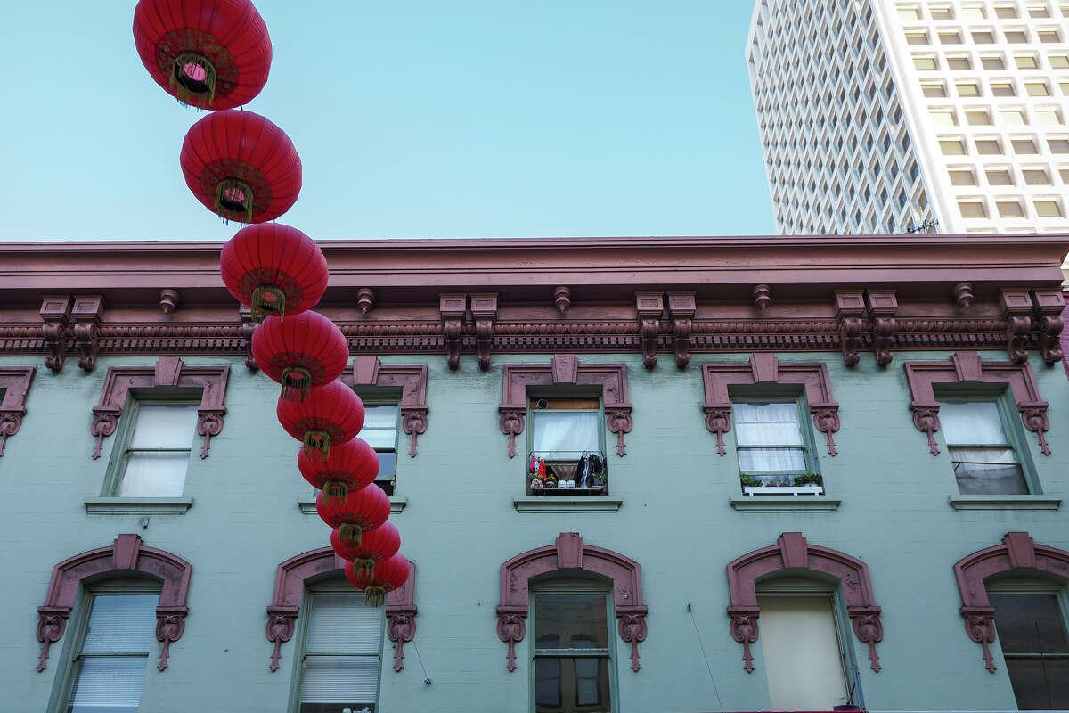 Lanterns on Grant Ave., Chinatown.