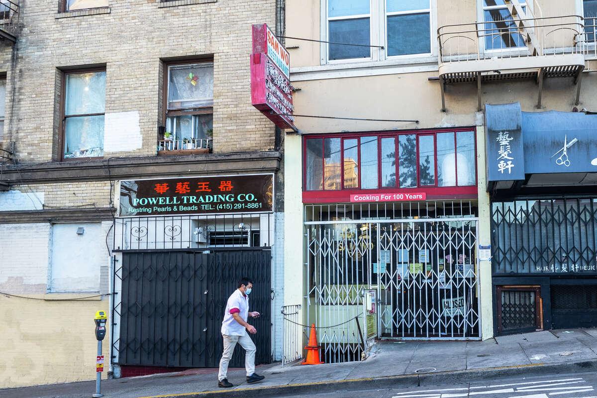 Sam Wo Restaurant on Clay Street, Chinatown.