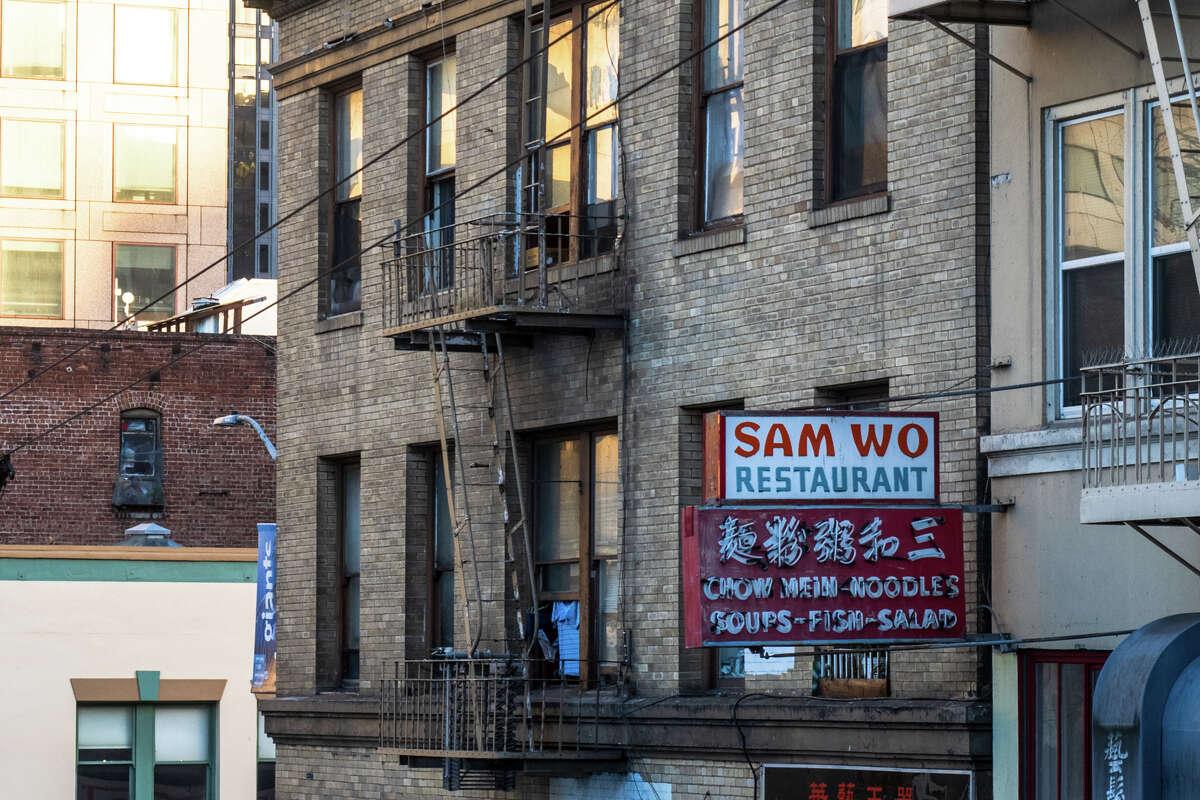 Sam Wo Restaurant on Clay St., Chinatown.