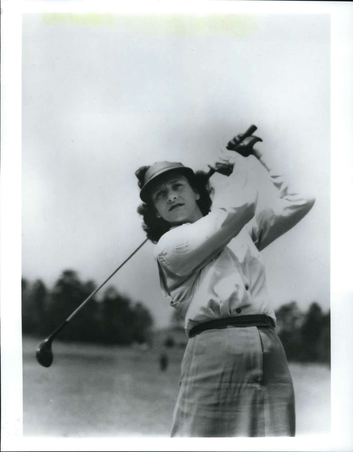 """Babe Didrikson Zaharias - Babe Didrikson, who won three U.S. Women's Open championships (1948, '50 and '54) in the early years of women's golf. From the home video series """"The Complete History of Golf,"""" Copyright Professional Golfers' Association of America (PGA) and MPI Home Video."""