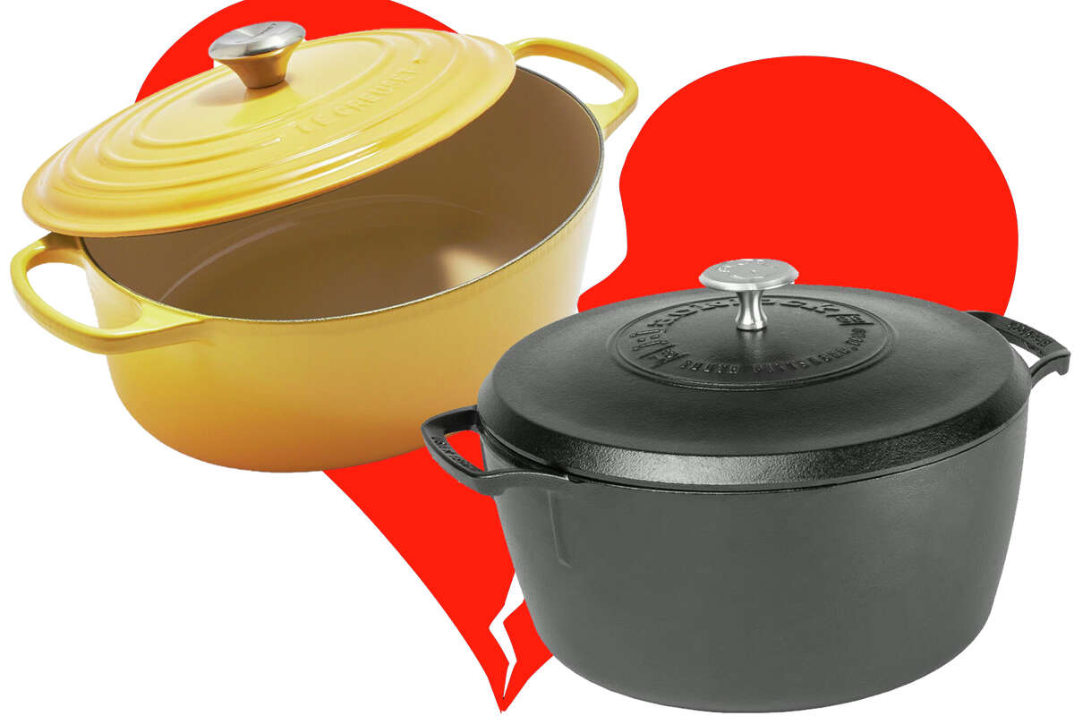 Le Cresuset Dutch Oven at Sur La Table Lodge Blacklock Dutch Oven at Williams Sonoma