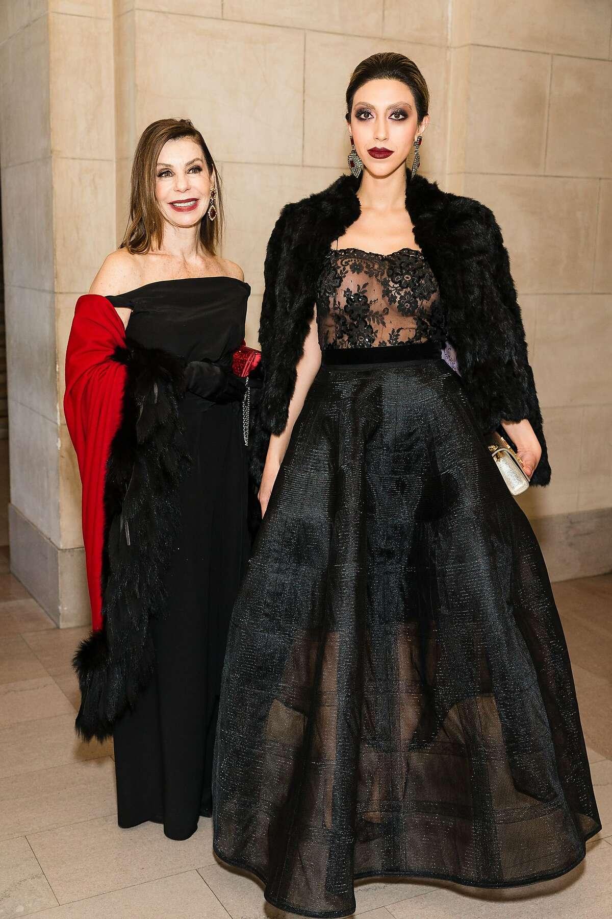 Eugenia Ahlas and Roxie Bakhtiari at the San Francisco Opera Ball.