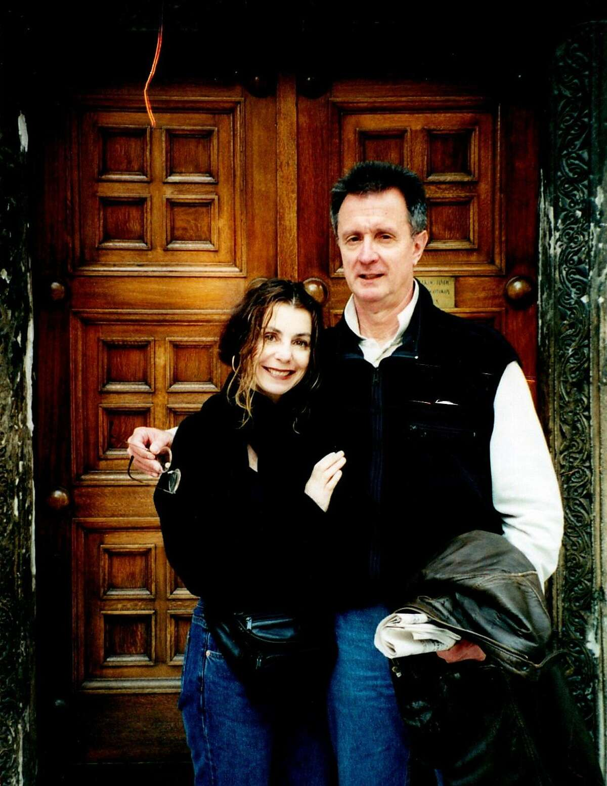 Eugenia and George Ahlas in Paris.