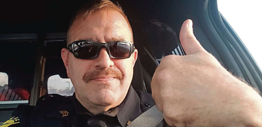 """Josh Glass, Manistee City Police Department chief, said Sgt. Tom Bruce (pictured) built great relationships with the public and that """"he will absolutely be missed here."""" Bruce is retiring from the department. Photo: Courtesy Photo"""