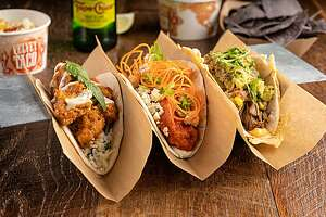 Spicy chicken tikka, buffalo chicken and slow-roasted brisket tacos are part of the lineup from Velvet Taco, the Dallas-based restaurant that's planning to open two locations in San Antonio in the coming months.