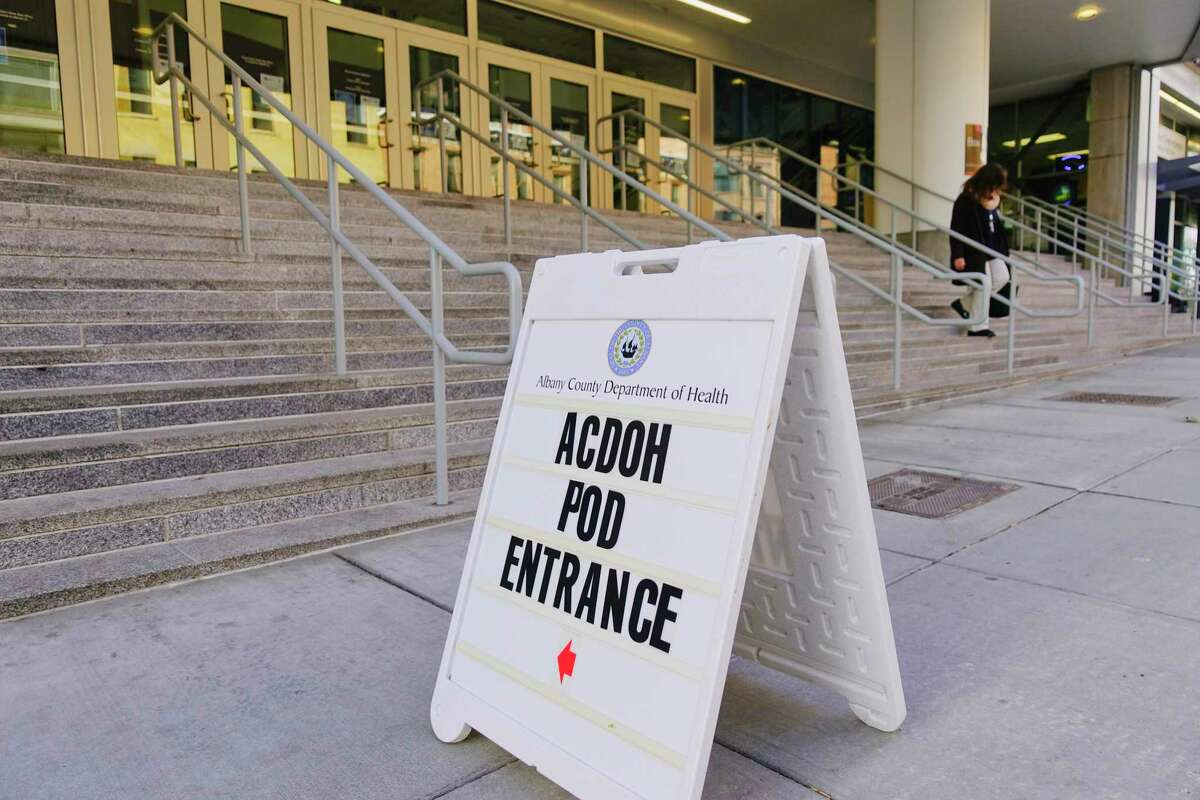 Using the Times Union Center as a vaccination pod, Albany County Department of Health has started vaccinating hundreds of people against COVID-19 on Thursday, Jan. 7, 2021, in Albany, N.Y. (Paul Buckowski/Times Union)