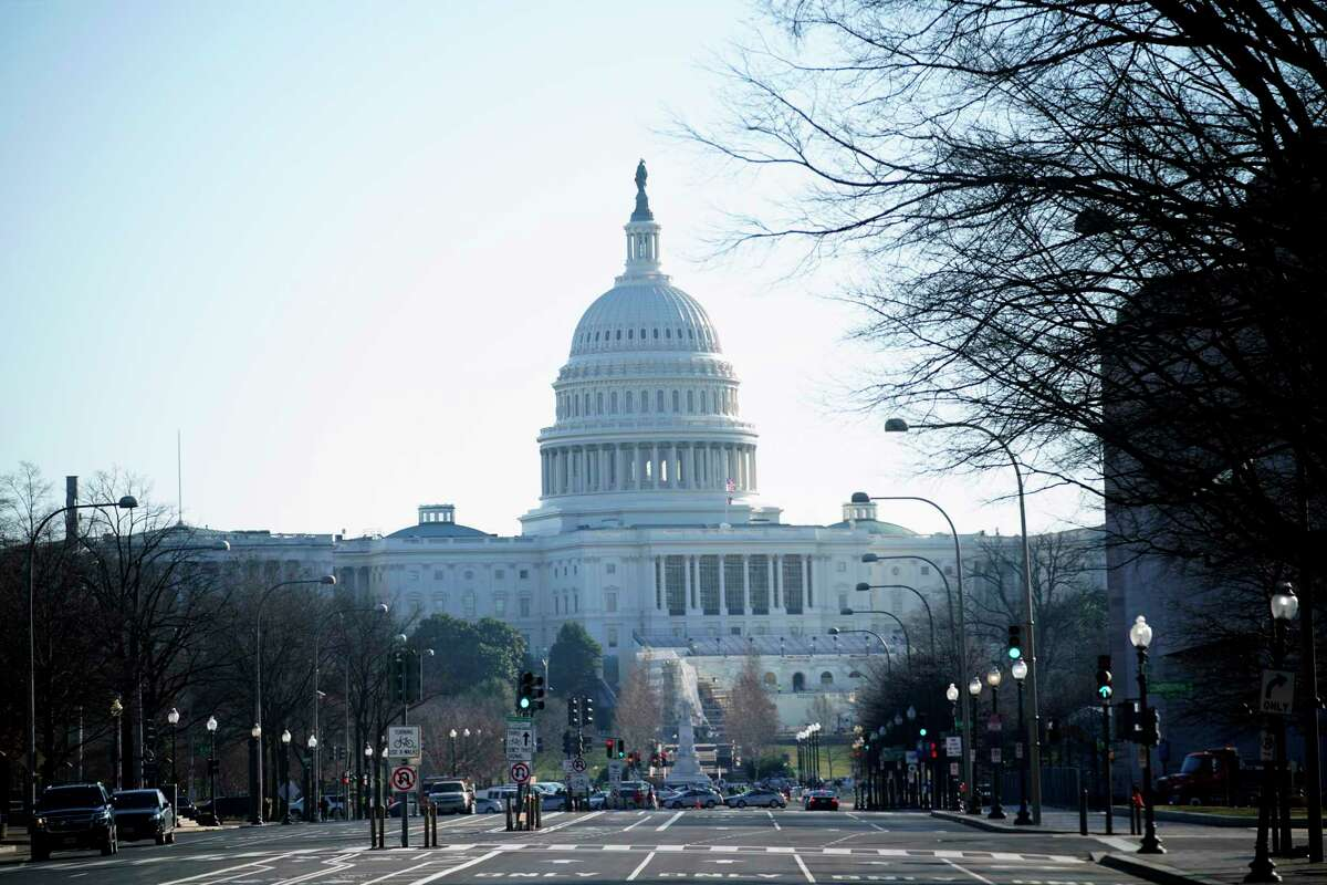 The U.S. Capitol is seen the day after violent protesters loyal to President Donald Trump stormed the U.S. Congress.