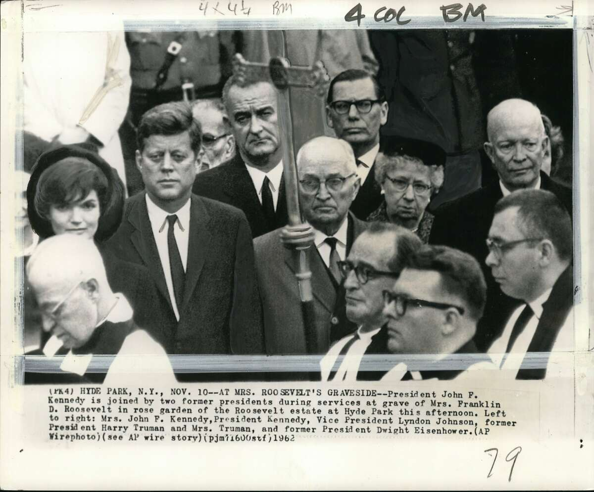 The 25th Amendment was ratified after President John F. Kennedy (left) was shot and killed and his successor Lyndon Johnson (right of Kennedy) survived a heart attack. Kennedy's predecessor, Dwight Eisenhower (far right), also suffered a heart attack. The country needed a way to deal with an incapacitated president.