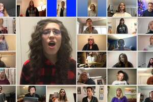 """A virtual choir sings """"Seasons of Love"""" as part of West Shore Community College's virtual choir and wind symphony concert presented as part of the college's Living Room Series. There were 155 submissions made to the project."""
