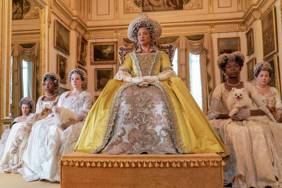 "Golda Rosheuvel as Queen Charlotte in ""Bridgerton."" MUST CREDIT: Liam Daniel/Netflix"
