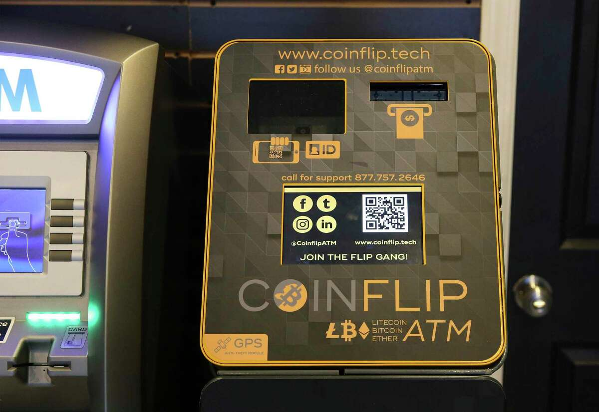 Cryptocurrency ATMs are popping up throughout San Antonio. One possible reason: People not spending money during the pandemic are looking to invest. This machine, one of 212 across the city, is at the Smokerz Paradise near I-10 and De Zavala Road.