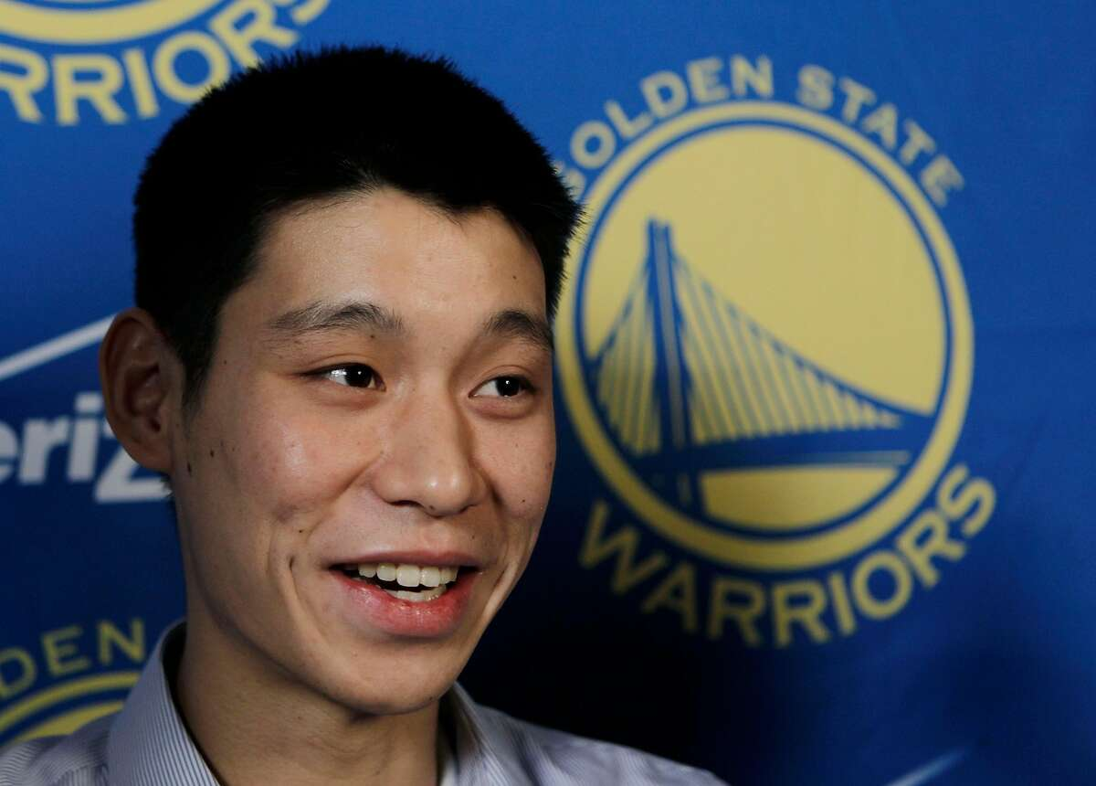 New Golden State Warriors guard Jeremy Lin smiles during a news conference at the NBA basketball team's headquarters in Oakland, Calif., Wednesday, July 21, 2010. Lin was an undrafted free agent from Harvard. (AP Photo/Paul Sakuma)