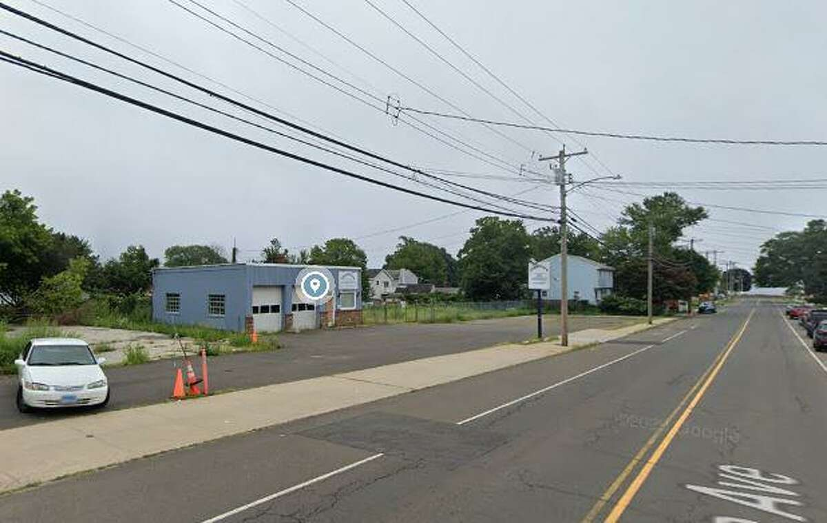 """The site of the former Oceanview Auto Services garage, where a developer sought a zone change to build 18 """"elderly, non-assisted"""" housing units on just over one-half acre of land at 49 Coe Ave., 57 Coe Ave. and 63 Coe Ave. The East Haven Planning and Zoning Commission denied the application Wednesday night, Jan. 6, 2021."""