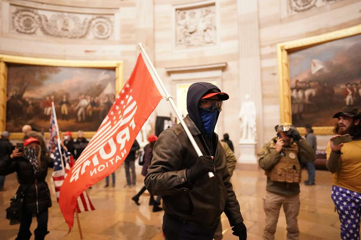 Trump supporters storm the Capitol and halt a joint session of the 117th Congress on Wednesday, Jan. 6, 2021, in Washington, D.C.