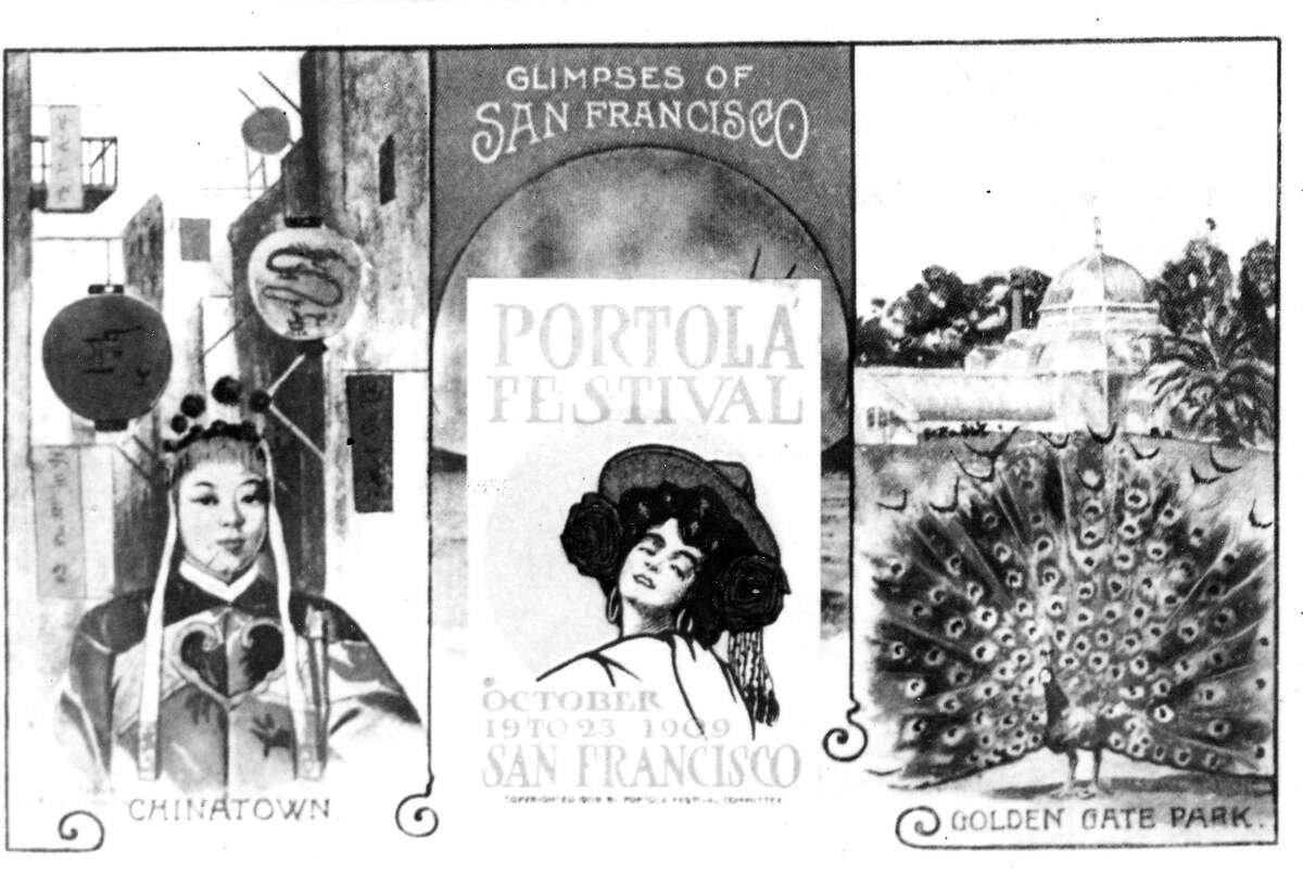 Artwork from the 1909 Portola Festival, which marked S.F.'s recovery from the 1906 disaster.