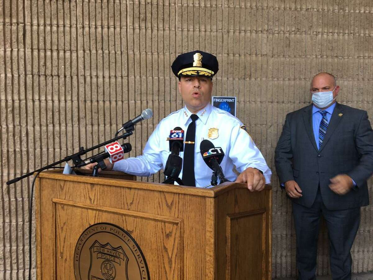 In this 2020 file photo, Police Chief Otoniel Reyes and Assistant Chief Karl Jacobson spoke at a press event, saying the Police Department has too few officers to fight an uptick in crime