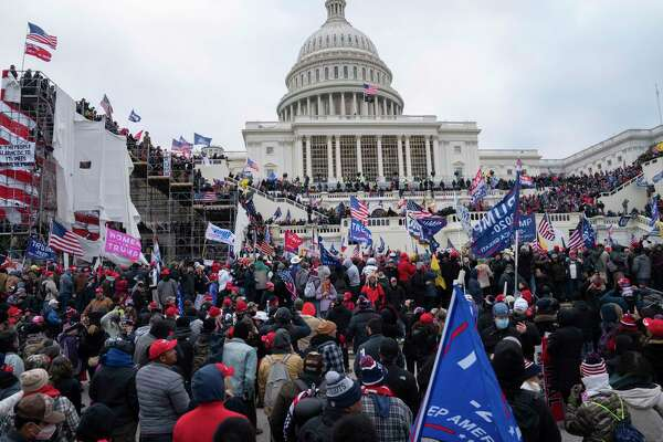 Protesters overtake the U.S. Capitol on Wednesday.