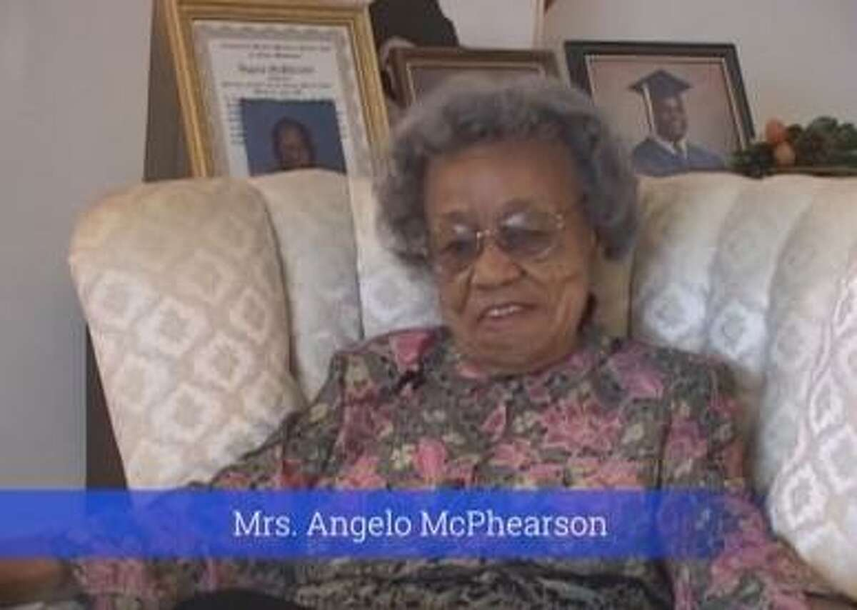 For his documentary, Carl White interviewed longtime teacher Algeno McPherson who was born in 1906. She passed away at age 106 in 2013.