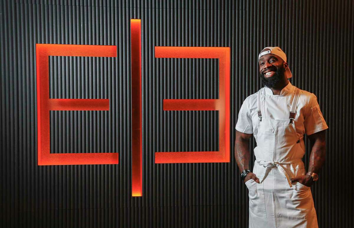 Chef Tobias Dorzon at James Harden's new restaurant Thirteen,Wednesday, Jan. 6, 2021, in Houston .