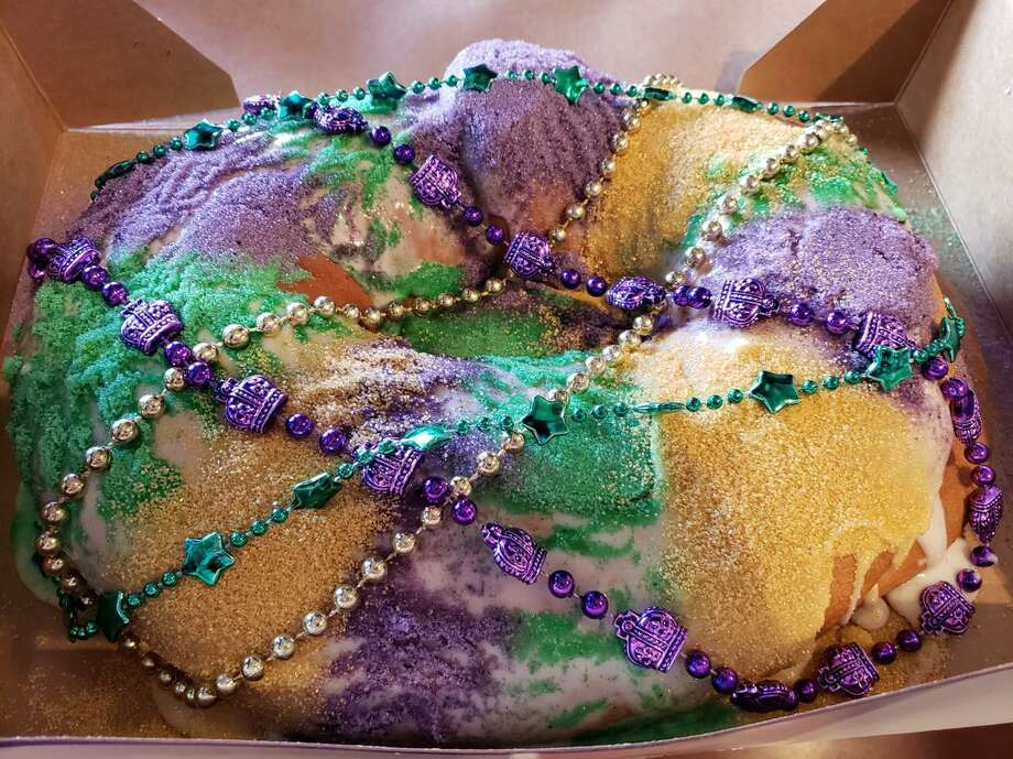 Vernele's Bayou Bakery in downtown Conroe has King Cakes available for Mardi Gras. They have both traditional cakes selling for $19.95 and cakes with a choice of crème cheese, praline pecan, raspberry, or apple filling for $22.50. Photo: Courtesy Photo