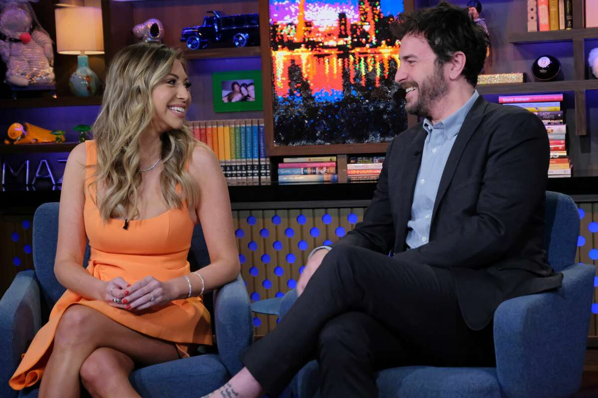 WATCH WHAT HAPPENS LIVE WITH ANDY COHEN -- Episode 17046 -- Pictured: (l-r) Stassi Schroeder, Beau Clark -- (Photo by: Charles Sykes/Bravo/NBCU Photo Bank via Getty Images)