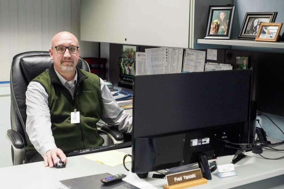 Midland County Health Director Fred Yanoski poses for a portrait Thursday in his office. (Katy Kildee/kkildee@mdm.net)