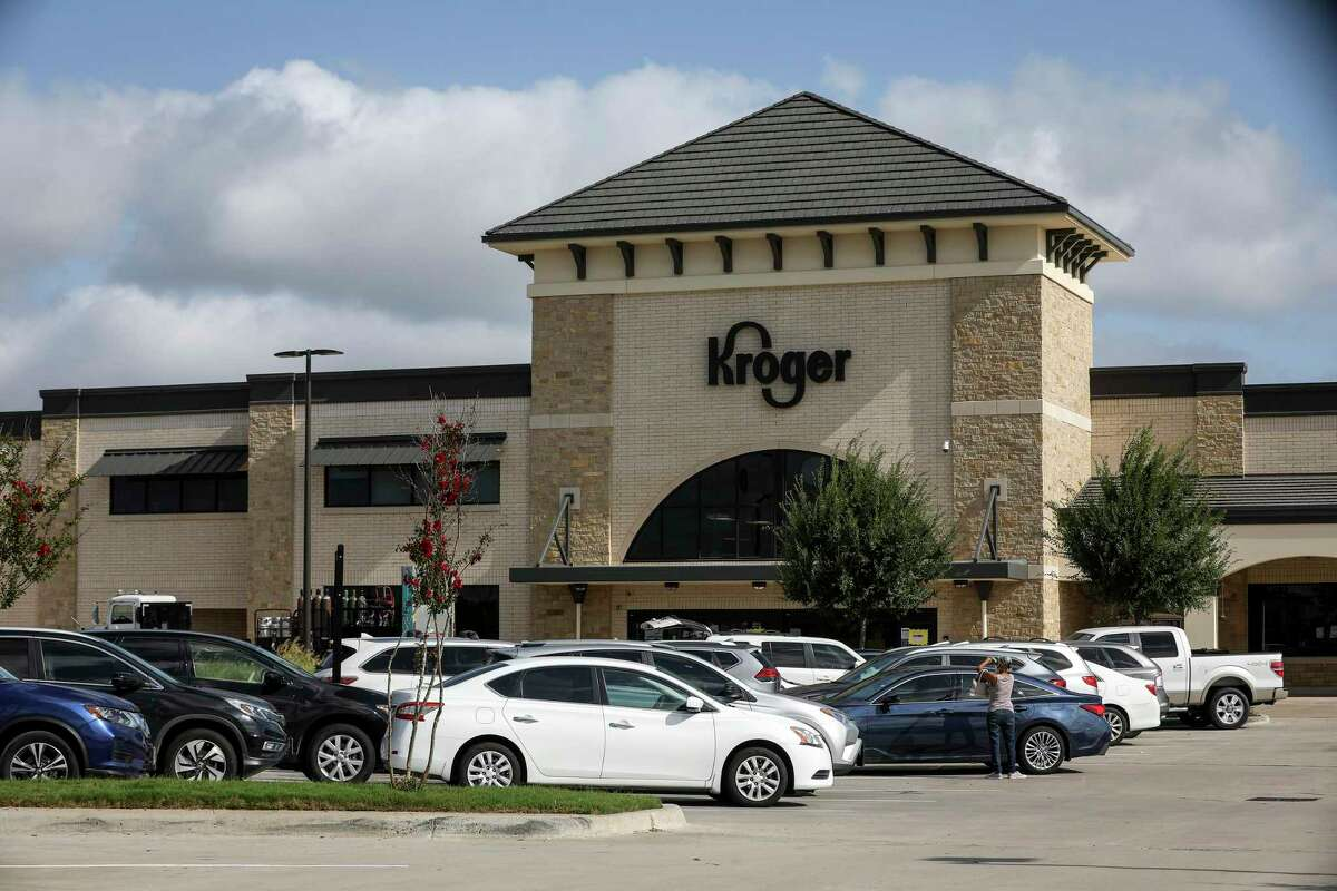 A Kroger location, photographed Monday, July 13, 2020, in Sugar Land.