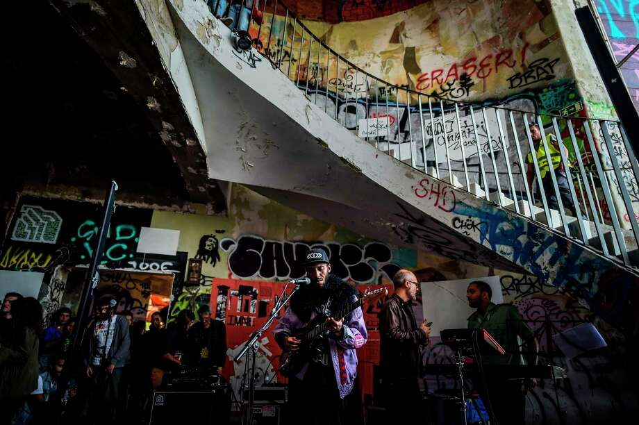 Cape Verdean-born Cachupa Psicadelica performs at the Instagram-ready Monsanto panoramic viewpoint in Lisbon, Portugal on Sept. 22, 2019. The show was part of the Iminente Festival which gathers activists of an emerging and urban culture. Photo: PATRICIA DE MELO MOREIRA/AFP Via Getty Images, Contributor / AFP