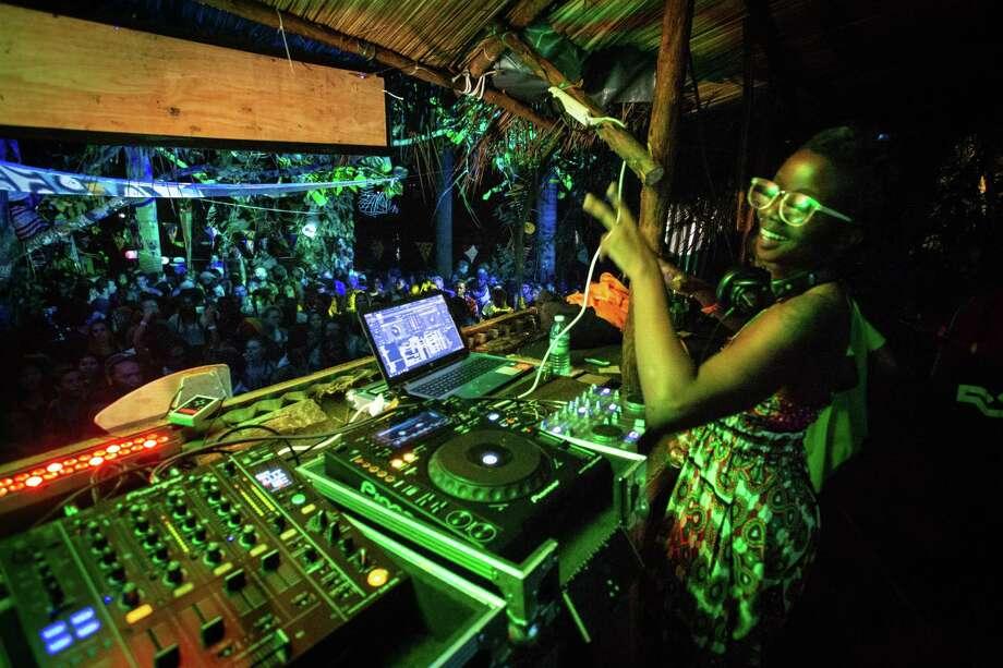 Uganda's DJ Kampire performs on stage on Sept. 2, 2017 shows Uganda's during the Nyege Nyege Festival, the annual four-day international music festival, in Jinja, Uganda. Photo: MARTIN KHARUMWA/AFP Via Getty Images / AFP