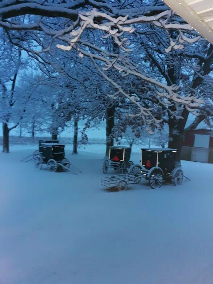 Fresh snow on Sunday morning at the Eicher household brings hope for the year ahead. (Courtesy photo)