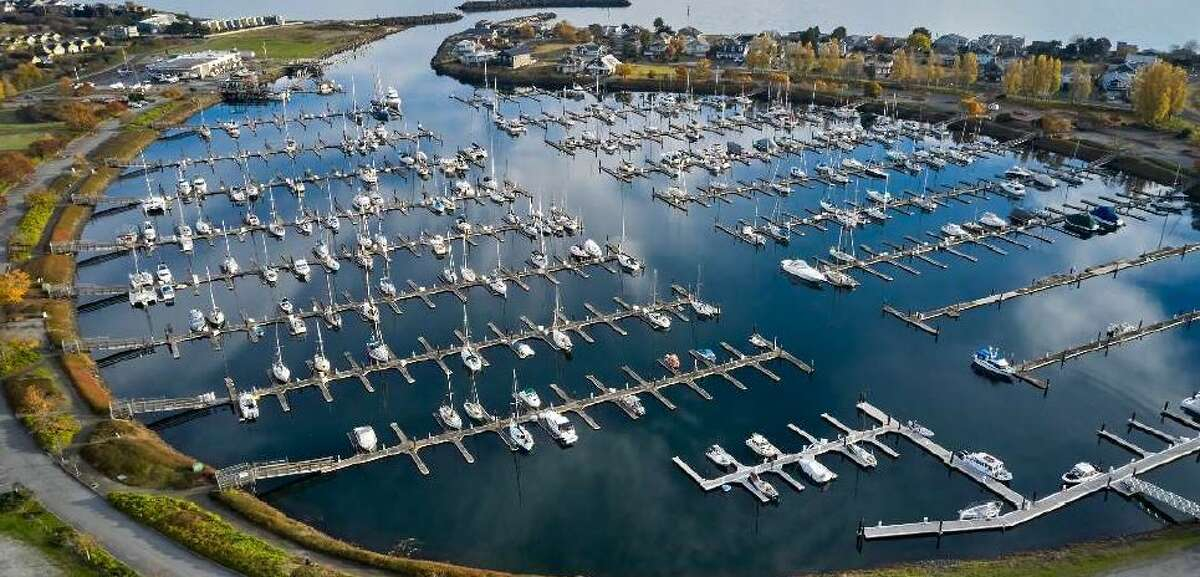 Point Roberts marina sits nearly empty amid the pandemic.