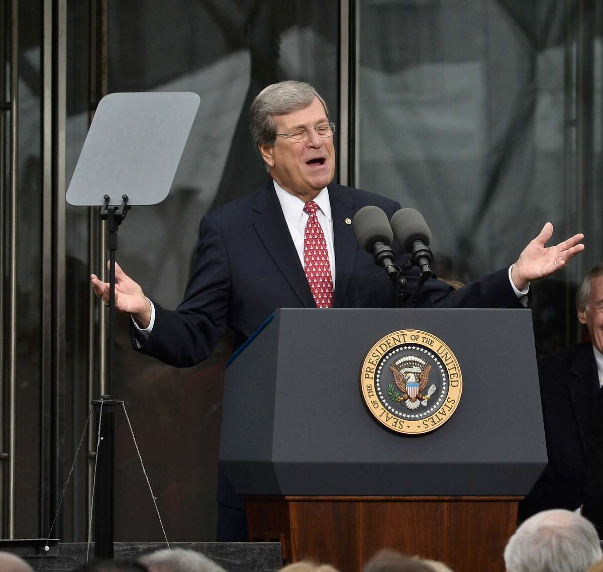 BOSTON, MA - MARCH 30: Former United States Senator Trent Lott speaks at the Dedication Ceremony at the Edward M. Kennedy Institute for the United States Senate on March 30, 2015 in Boston, Massachusetts. (Photo by Paul Marotta/Getty Images) ORG XMIT: 545626227