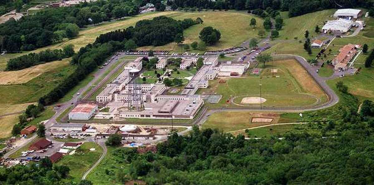 An aerial view of Federal Correctional Institution on Pembroke Road in Danbury.