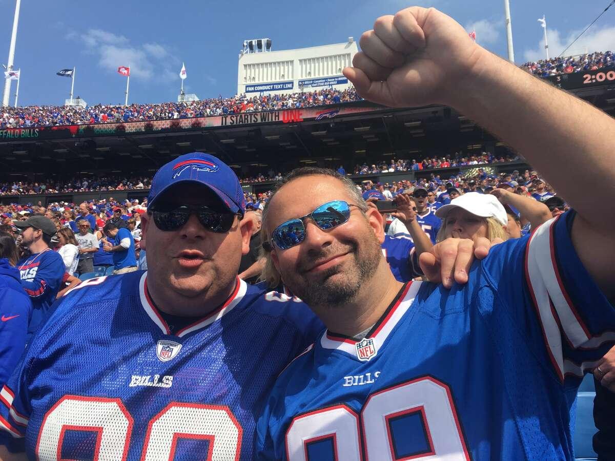 Bills fan Scott Sasenbury, left, and his brother, Kevin.