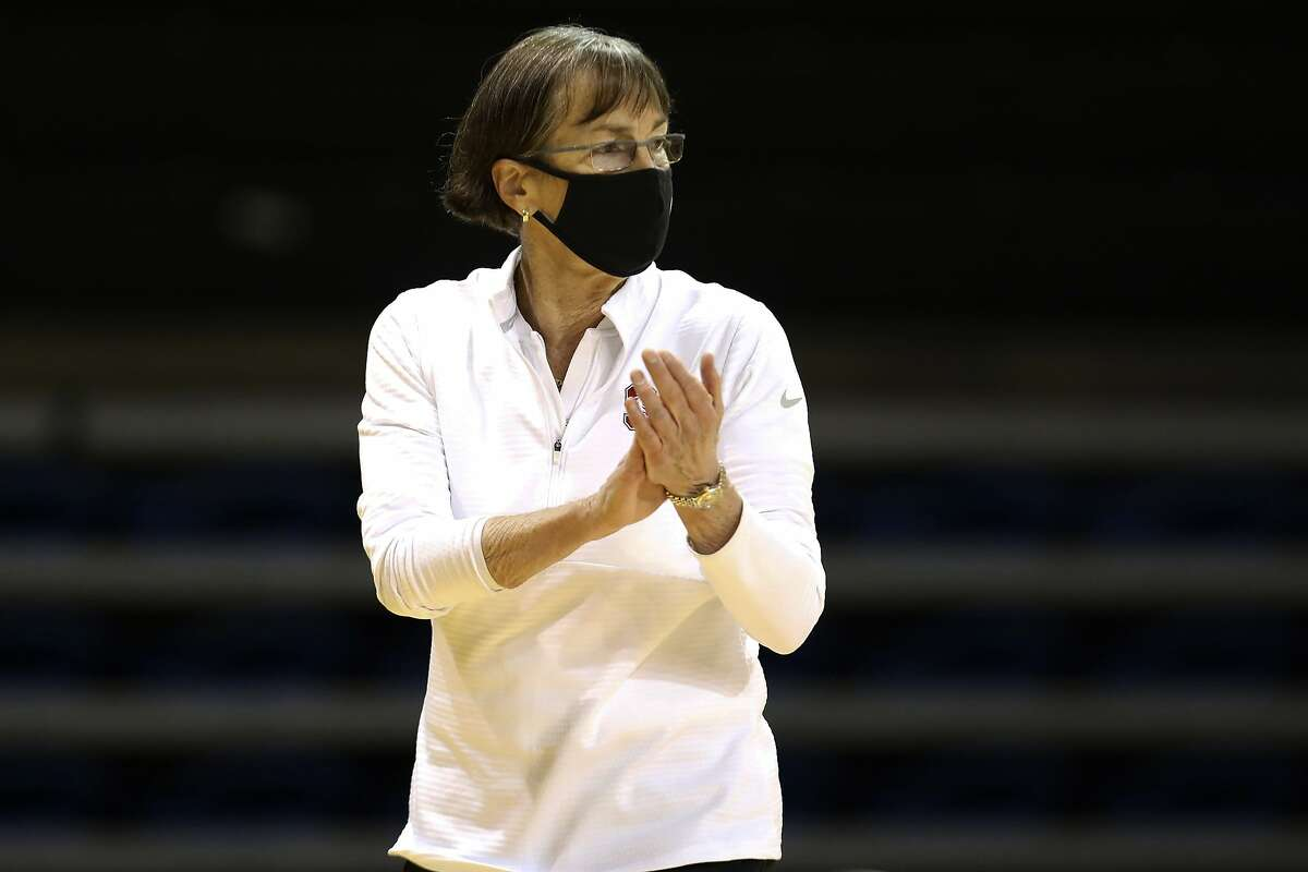 Stanford head coach Tara VanDerveer was disappointed with her team's sloppy play. The Cardinal had 17 turnovers.