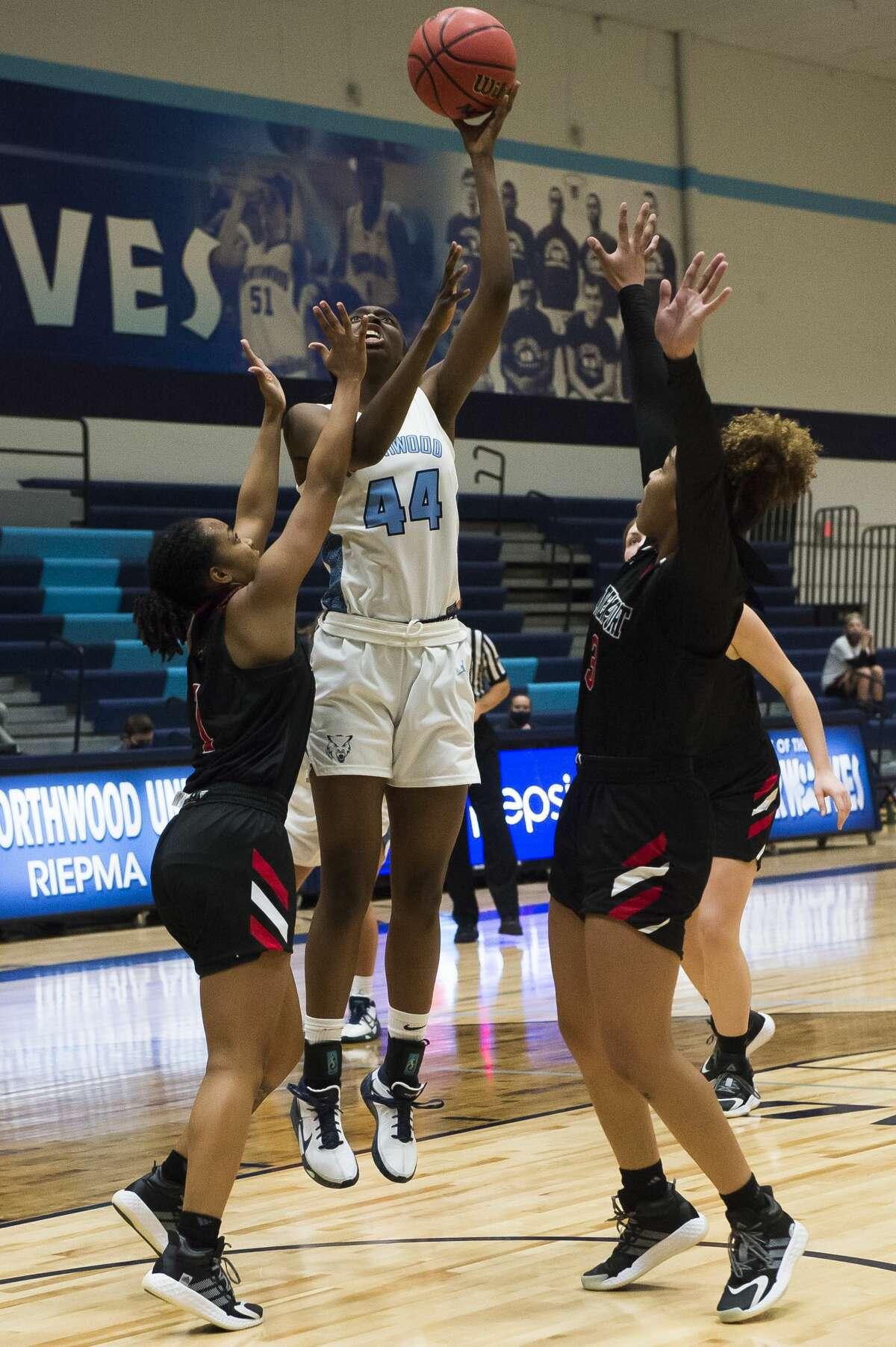 Northwood's Jayla Strickland takes a shot during a game against Davenport Friday, Jan. 8, 2021 at Northwood University. (Katy Kildee/kkildee@mdn.net)