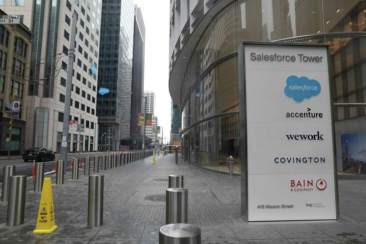 Salesforce is joining other companies in allowing permanent remote work.