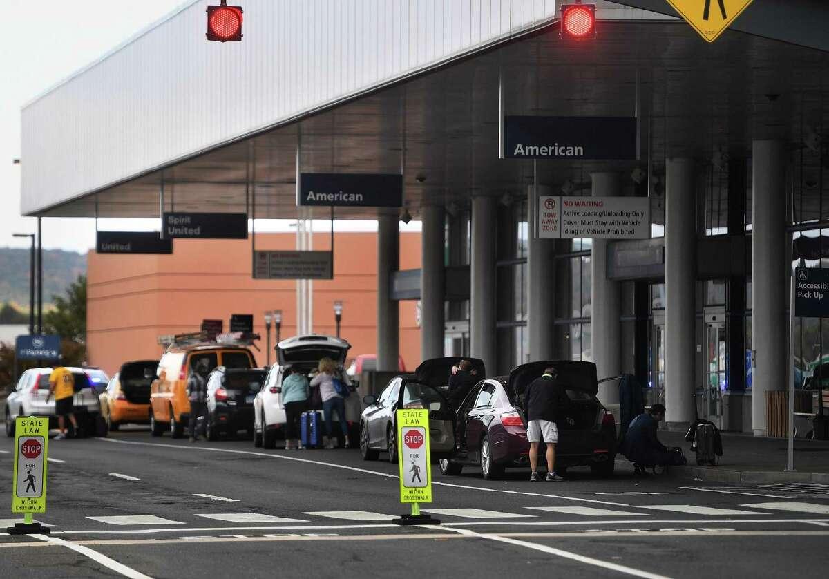 Passenger traffic during the 2020 holiday season dropped more than 60 percent at Bradley International Airport in Windsor Locks, Conn., according to TSA data.