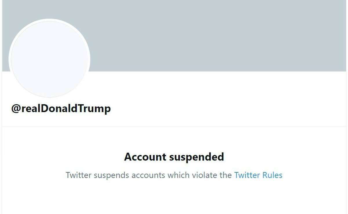 A screenshot shows President Trump's suspended account on Twitter. Q: Wait ... restrictions on the freedom of speech? A: As Nott wrote,